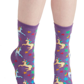 ModCloth Quirky Just Another Magic Monday Socks