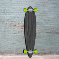Black Pintail Longboard 40 inch from Punked - Complete