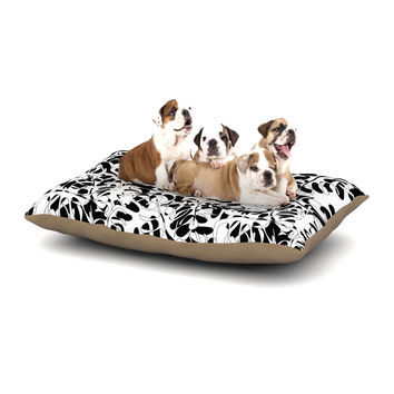 "Julia Grifol ""White Leaves"" Dog Bed"