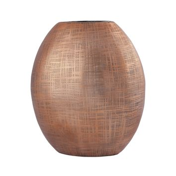 8178-059 Kolkata 10-Inch Vase In Copper