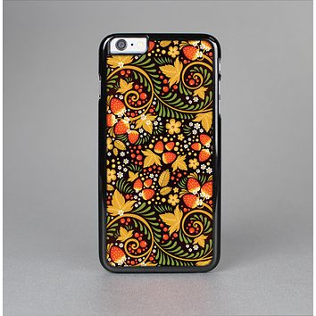 The Colorful Floral Pattern with Strawberries Skin-Sert Case for the Apple iPhone 6