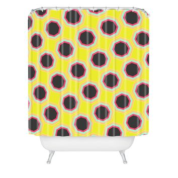 Allyson Johnson Neon Pattern Shower Curtain