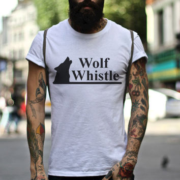 Wolf Whistle Tee, Wolf T-Shirt, Wolf Graphic Tee, Wolf Graphic Design, Hipster Graphic Tee