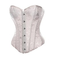 BSLINGERIE® Womens Waist Cincher Boned Corset With Brocade