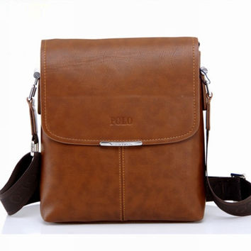 2017 New Brand Pu Leather Men Messenger Bags Men Crossbody Shoulder Bags Men Handbags Men Polo Bags Brand Casual Briefcase PL001