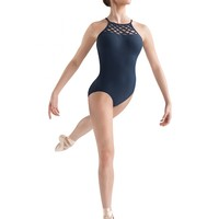 JFM Wave Band Front High Neck Halter Leotard / Bloch