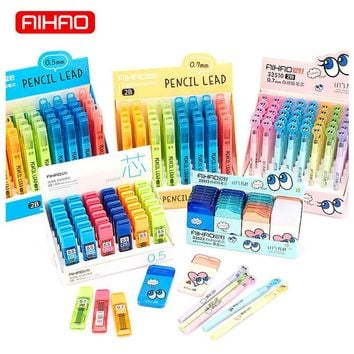 AIHAO Free Shipping Cute Candy Color Plastic 2B Pen Refills Kawaii Pencil Lead For Kids Writing Gift Korean Stationery 928