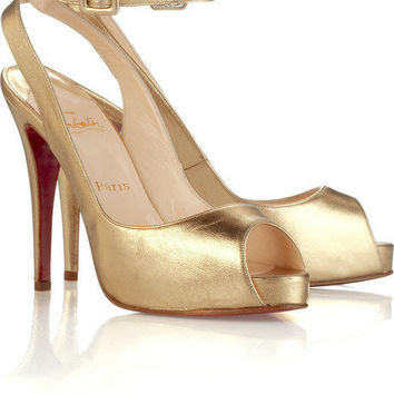 Christian Louboutin Privatita platform slingbacks - $186.00