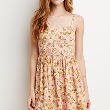 Rose Print Babydoll Dress