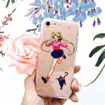 Sailor Moon Phone Case For iPhone 7 7Plus 6 6s 6Plus