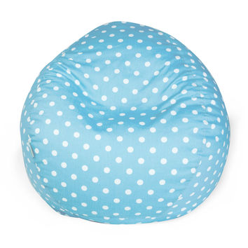 Aquamarine Small Polka Dot Small Classic Bean Bag