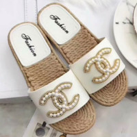 Chanel new style fashion sales anti - slip word slippers