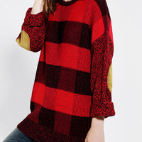 BDG Buffalo Plaid Tunic Sweater