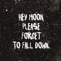 hey moon please forget to fall down panic - Google Search