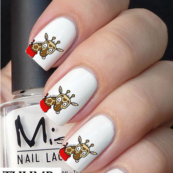 Cute Giraffe Nail decals
