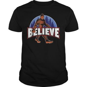 Bigfoot Believe Sasquatch T-Shirt Guys Tee