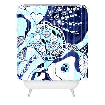CayenaBlanca Tribal Texture Shower Curtain