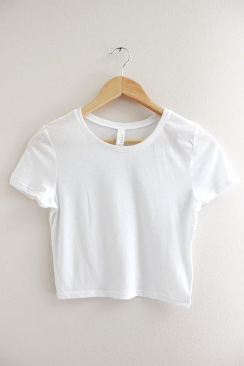 Basic White Crop Top From Era Of Artists Quick Saves