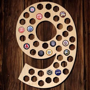 Number Nine Beer Cap Map