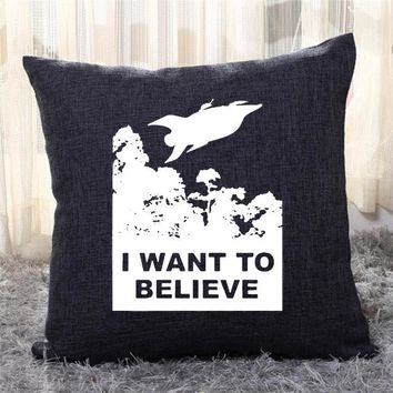 I Want To Believe Planet Express, The Simpsons Throw Pillow Cover