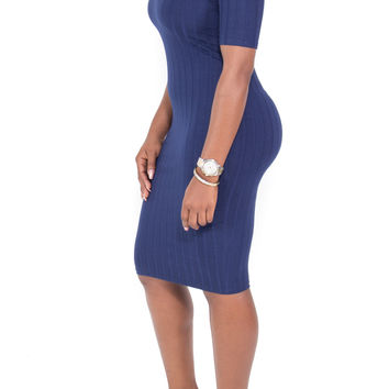 Off The Shoulder Perfect Fit Bodycon Midi Dress