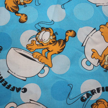 Garfield 'Caffeine Fiend' Ladies PJ Top/Shirt - Size 14 or perfect for crafting