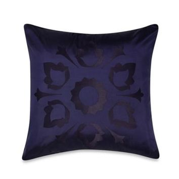 Frette At Home Marano Pure Silk Square Throw Pillow in Blue