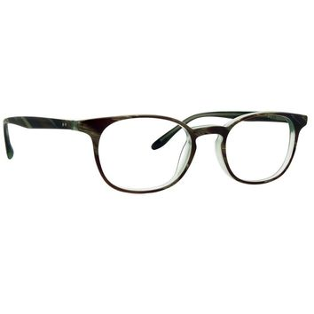 Badgley Mischka - Nash 49mm Olive Horn Eyeglasses / Demo Lenses