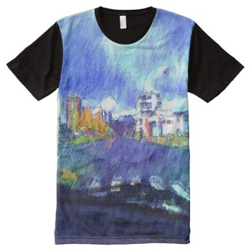 The city from a car All-Over-Print shirt