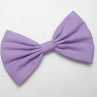 Lavender Bow Clip Lilac Hair Bow Clip Lilic bow Light purple Big Bows lavender Fabric Bow School Hair bow for teens women bows trendy bows