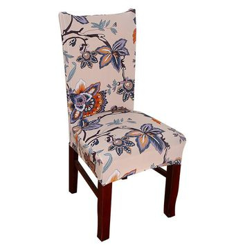 Dreamworld Colorful Printing Chair Covers Spandex Green Elastic Chair Covers Soft Covers for Chairs Wedding Dinner Restaurant