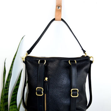 2-in-1 Leather Backpack Convertible from ARTandJILL on Etsy