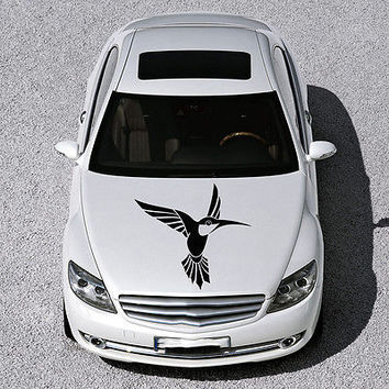 BEAUTIFUL BIRD FLIES ANIMAL ART DESIGN HOOD CAR VINYL STICKER DECALS SV1286