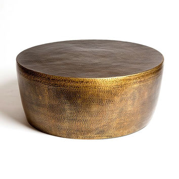 Ismar Hammered Brass Coffee Table