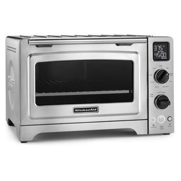 KitchenAid KCO273SS Stainless Steel 12-inch Digital Convection Countertop Oven (Color: Steel Gray)