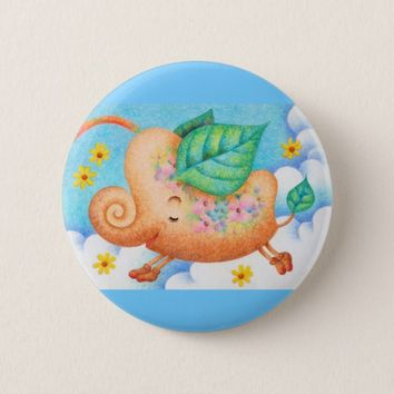 Fairy tale elephant pinback button