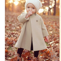 Girls Outerwear Coats Children Fashion double-breasted Woolen Trench Kids Winter O-Neck Jacket Warm Cotton Clothes HC069 = 1929828804