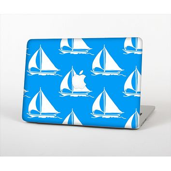 The Blue Vector Sailboats Skin Set for the Apple MacBook Pro 13""
