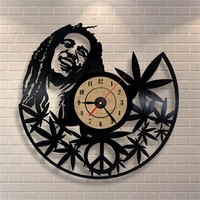 Bob Marley Peace Vinyl Record Wall Clock