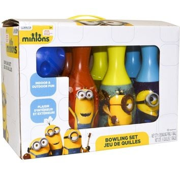 Educational Pretend Party Favors Despicable Me Minions Bowling Set For Kids