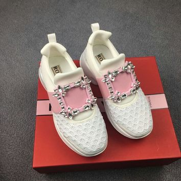 RV Roger vivier White Women Fashion Casual Sneakers Sports Shoes