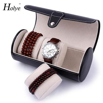 Portable Travel Watch Case Roll With 3 Slots