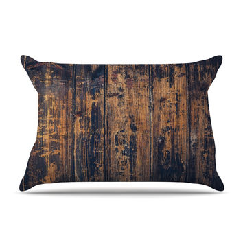 "Susan Sanders ""Barn Floor"" Rustic Pillow Sham"