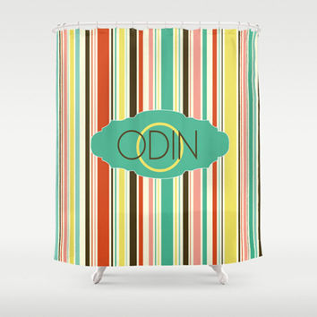 Colorful Stripes   Personalized Shower Curtain