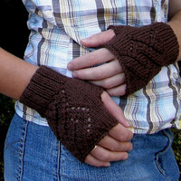 Lacy Cotton Finger-less Mittens