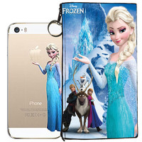 Disney's Frozen Holding Logo Clear Case For Apple Iphone 6/6s + Pouch