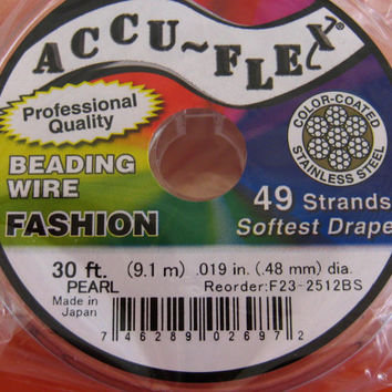 Silver Beading Wire Accuflex 49 strand Best Beading Cord Reel Stainless Bulk Wholesale Beading Jewelry Supplies CrazyCoolStuff