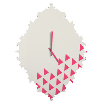 Allyson Johnson Pink Triangles Baroque Clock
