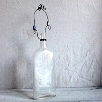 Wired Dug Bottle Wall Vase : vintage apothecary