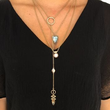 Multi Lingual Layered Necklace